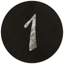 Numéros Marque Table Ronds Noir Effet Ardoise Craie Noir