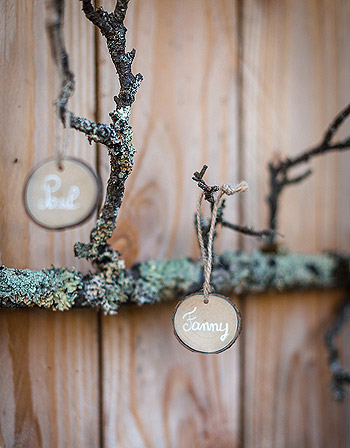 Rondin de bois porte nom