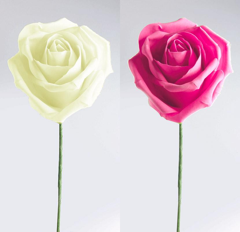 La rose g ante de d coration avec tige d coration de - Rose avec tige ...