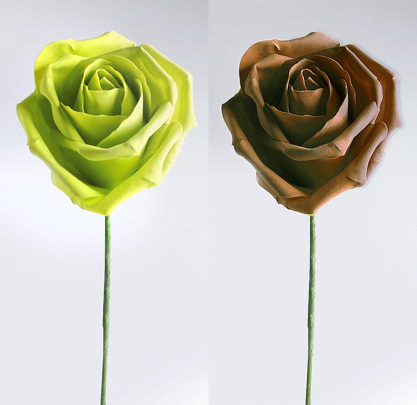 La rose g ante de d coration avec tige noel - Rose avec tige ...
