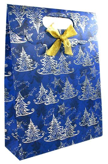 le petit sac cadeau de noel bleu et argent luxe noel. Black Bedroom Furniture Sets. Home Design Ideas
