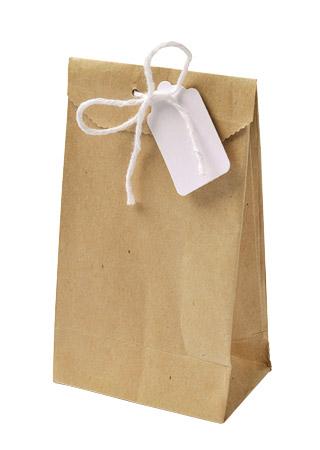 Lot de 6 petits sachets cadeaux kraft brun vintage for Petit sachet kraft mariage