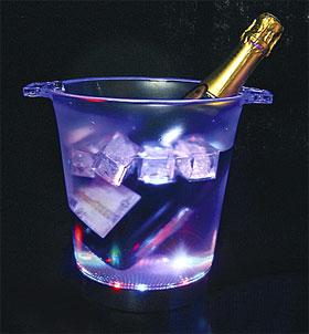 Seau à Champagne Lumineux Led Jeu de Lumière