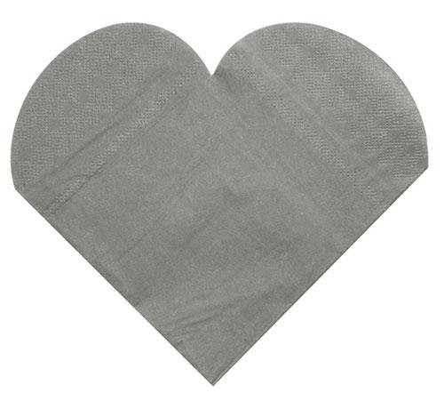 lot de 20 serviettes de table coeurs papier aspect tissu noel. Black Bedroom Furniture Sets. Home Design Ideas