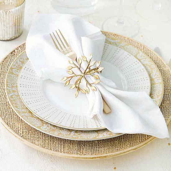 Serviettes De Table Polyester Blanches Carrées X 6
