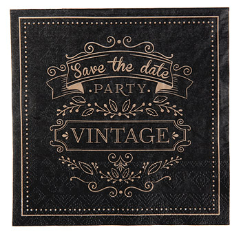 Serviette de Table Vintage Save the Date