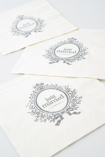 Serviettes de Table Just Married