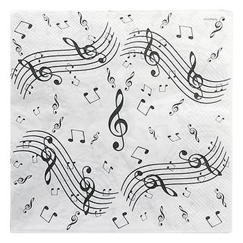 Serviettes Papier Musique