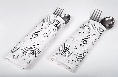Serviettes papier notes de musique