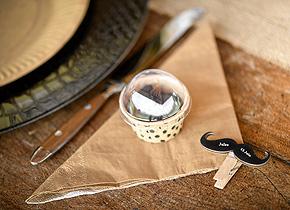 Serviettes Papier Couleur Kraft Vintage Beige - Taupe