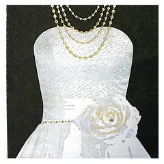 Serviettes de Table Mrs Mariage Noir