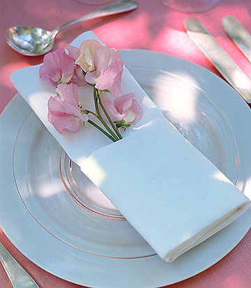 Serviettes de table blanche polyester