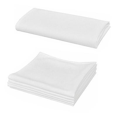 Serviettes tissu blanches 50cm x 50cm