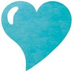 Dessous d'Assiette COEURS Jetables Mariage x50 Turquoise