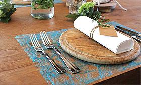 Dessous d'assiette rectangulaire longues fibres