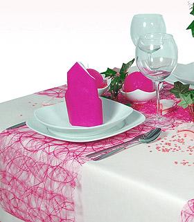 Chemin de Table Sizoweb Abaca Luxe Fuchsia