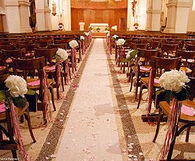 Tapis d' Eglise Mariage Ivoire