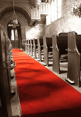 Tapis Eglise Salle Tissu Intissé Mariage Rouge