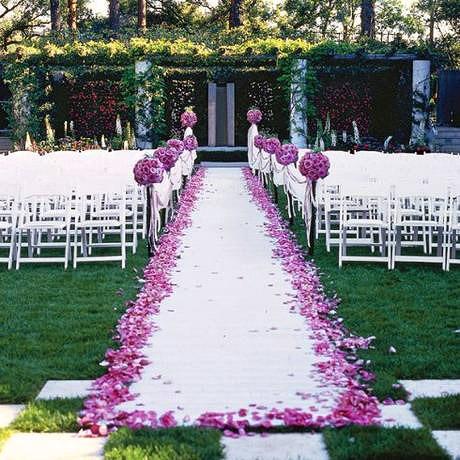Tapis intissé mariage blanc pas cher