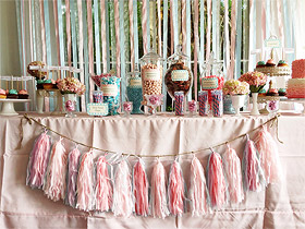 Guirlande tassel candy bar