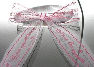 Tulle Vive les Mariés Décoration Voiture Fuchsia