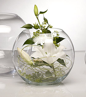 Vase Boule Verre Centre de Table Mariage Transparent