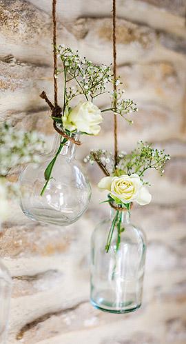 Vase Bouteille à la Mer Verre Mariage Transparent