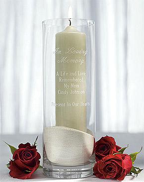 Vase en Verre Droit Cylindrique Transparent avec Bougie