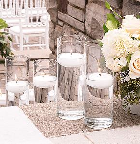 Bougies flottantes Vase Verre Transparent