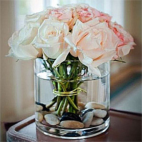 Pot Verre Cylindrique Centre de Table Mariage Transparent