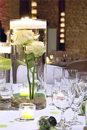 Grand Vase en Verre Cylindrique Biseaux Mariage Transparent
