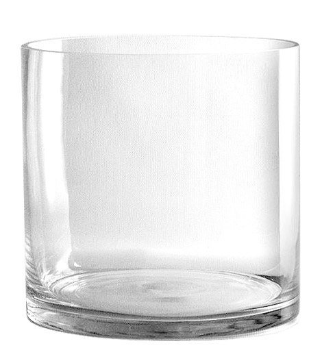 Vase Verre Cylindrique Large Centre de Table Mariage Transparent