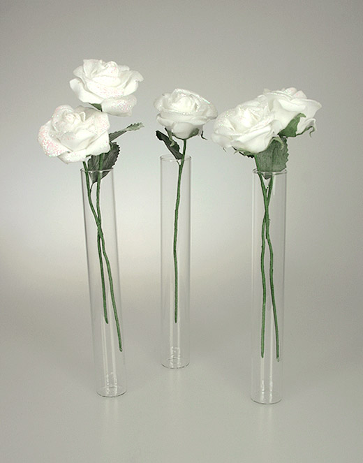 mini vases eprouvettes tube avec roses d coration de table mariage. Black Bedroom Furniture Sets. Home Design Ideas