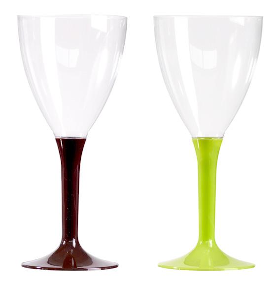 lot de 10 verres vin ou eau pied couleur vaisselle cocktail buffet mise en bouche. Black Bedroom Furniture Sets. Home Design Ideas