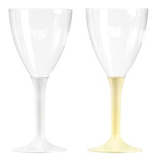 verres vin jetables plastique pied couleur vaisselle jetable. Black Bedroom Furniture Sets. Home Design Ideas