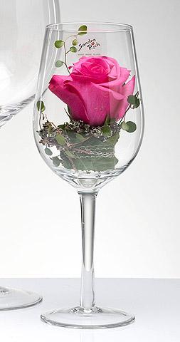 Verre à Vin Géant Vase Photophore Decoration Florale