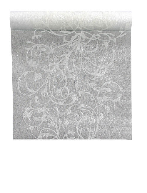 Chemin de table Organza Paillettes Blanc