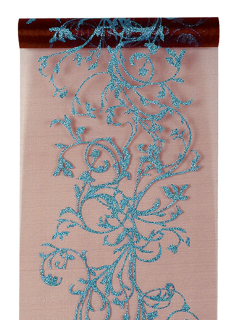 Chemin de table Organza Paillettes