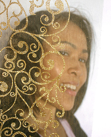 Volie arabesques dorées