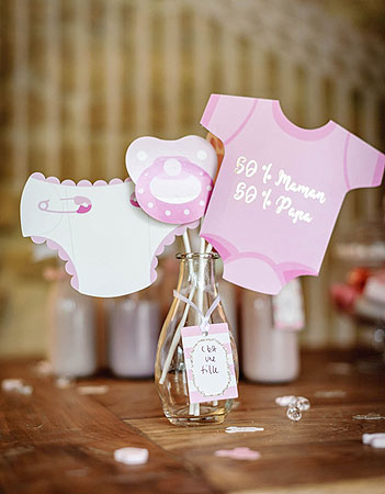Accessoires photobooth Baby Shower Rose
