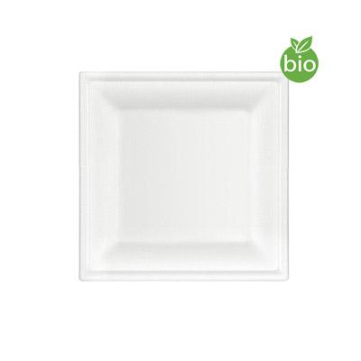 Assiettes Carrées Biodegradables 16cm pas cher
