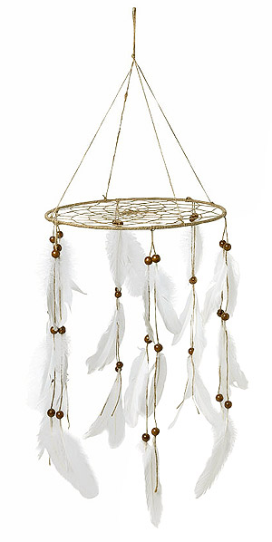 Attrape Rêve Suspension Boho Plumes