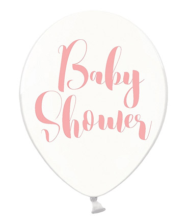 Ballons Baby Shower Transparent Rose