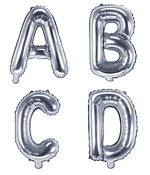 Ballon Argenté Lettre