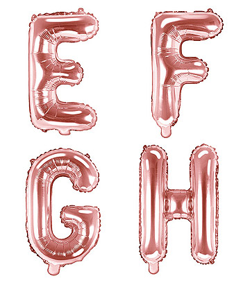 Ballon rose gold Lettre