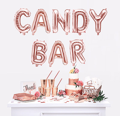 Ballon rose gold candy bar