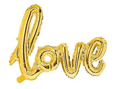 Ballon Love Mylar Métallisé doré