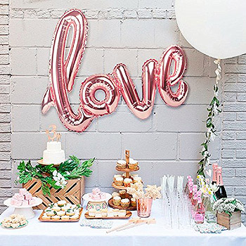 Ballon Lettres Love Rose Gold