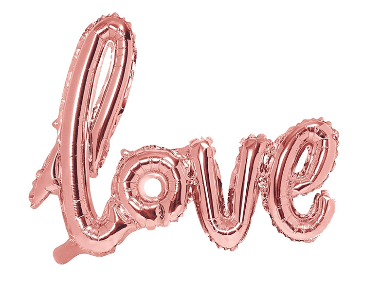 Ballon Lettres Love Rose Gold