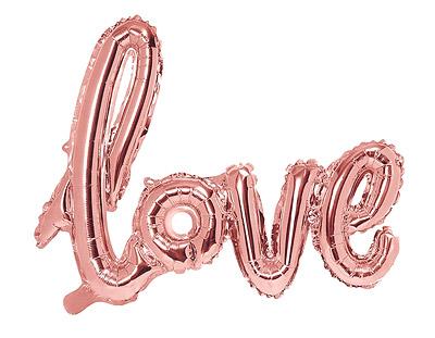 Ballon Love Mylar Métallisé Rose Gold